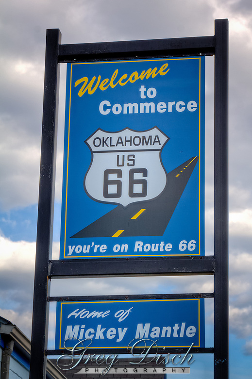 Downtown Commerce Oklahoma on Route 66. (Greg Disch)