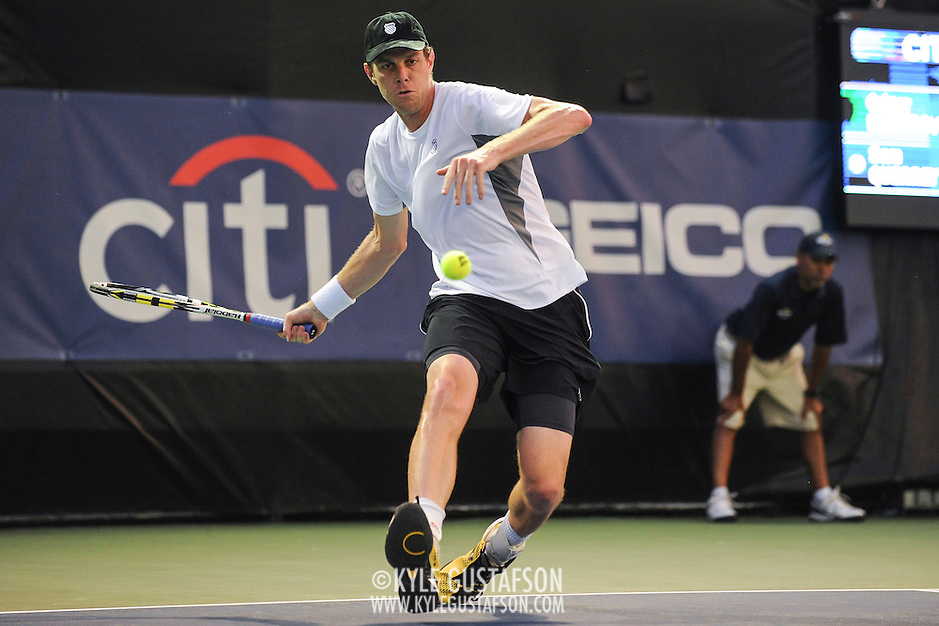 Washington DC - August 3rd, 2013 - Sam Querrey at the 2013 CitiOpen Tennis Tournament in Washington, D.C. (Kyle Gustafson/Photo by Kyle Gustafson)