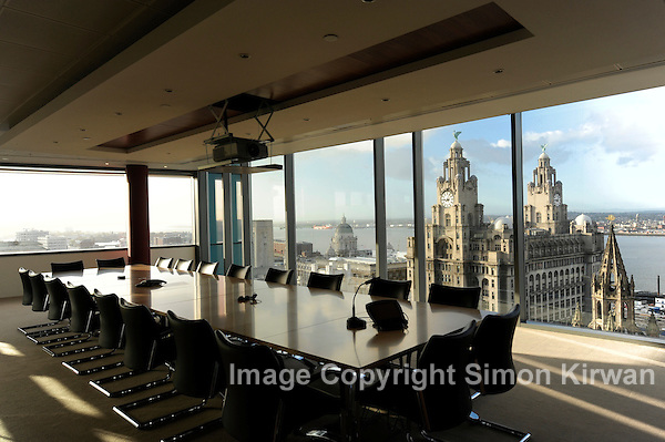 Liver Building from 20 Chapel St, Liverpool - Architectural Photography By Simon Kirwan