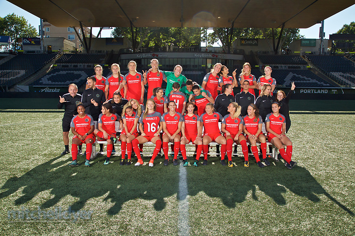 Portland, Oregon - September 1, 2017: Portland Thorns 2017 team photo at Providence Park. (Craig Mitchelldyer, Craig Mitchelldyer)