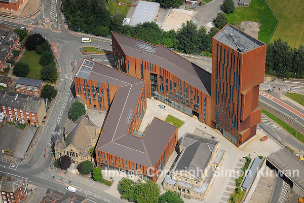 Broadcasting Place, FCBStudios, Leeds Met Uni from the Air - Aerial Photography By Simon Kirwan
