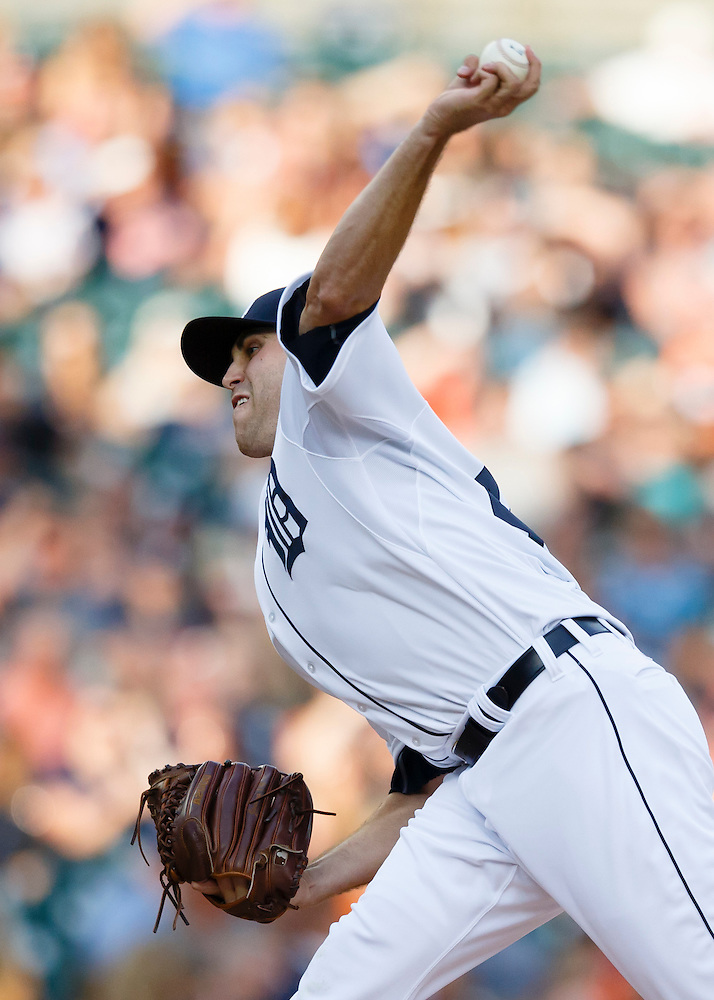 Aug 5, 2015; Detroit, MI, USA; Detroit Tigers starting pitcher Matt Boyd (48) pitches in the second inning against the Kansas City Royals at Comerica Park. Mandatory Credit: Rick Osentoski-USA TODAY Sports (Rick Osentoski/Rick Osentoski-USA TODAY Sports)