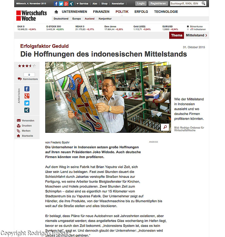 2015 10 09 Tearsheet WirtschaftsWoche SMEs in Indonesia web Eztu Glass (Rodrigo Ordonez)