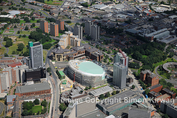 Leeds Arena Construction from the Air 28.07.12 - aerial photography by Simon Kirwan