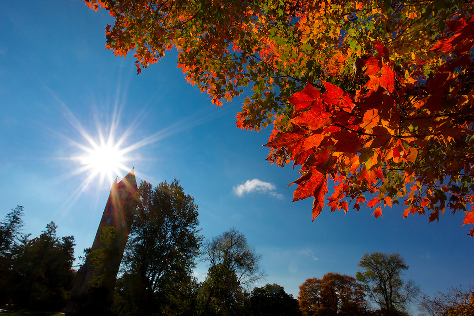 Fall colors bloom near the Campanile on the campus of Iowa State University in Ames, Iowa. (Christopher Gannon/Gannon Visuals) (Christopher Gannon)