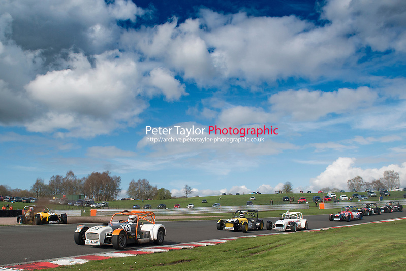 #13 Steve Paddock Locost 7 during Demon Tweeks / Yokohama Locost Championship as part of the 750 Motor Club at Oulton Park, Little Budworth, Cheshire, United Kingdom. April 01 2017. World Copyright Peter Taylor/PSP. Copy of publication required for printed pictures.  Every used picture is fee-liable. http://archive.petertaylor-photographic.co.uk (Peter Taylor/PSP)