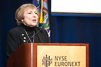 Phyllis Frankfort, President & CEO of w!se at 100 Best W!se High Schools Teaching Personal Finance 2014 were honored in a ceremony held at the NYSE/Euronext. (Jeffrey Holmes/JeffreyHolmes.com)