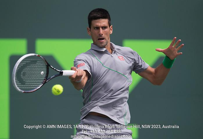 NOVAK DJOKOVIC (SRB) Tennis - Sony Open -  Miami -   ATP-WTA - 2014  - USA  -  25 March 2014.  © AMN IMAGES (FREY/FREY- AMN Images)