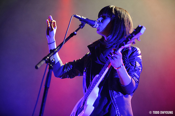 Photos of the band School of Seven Bells performing in support of Interpol on February 11, 2011 at the Pageant in St. Louis. (TODD OWYOUNG)