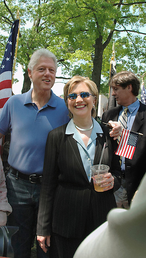 Chappaqua, NY, May 28: Bill and Hillary Clinton relax after Memorial Day ceremonies in their hometown of Chappaqua, New York. Hillary Rodham Clinton was a United States Senator at the time (2006) and was Grand Marshall of the parade. (Marianne A. Campolongo/Copyright © Marianne A. Campolongo)