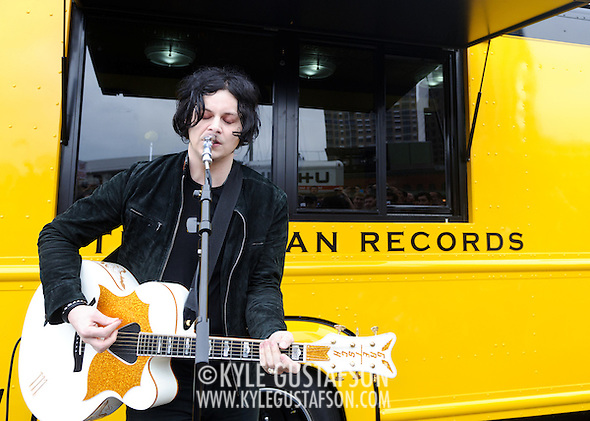 AUSTIN, TX - March 16th, 2011: Jack White performs in a parking lot  at the 2011 SXSW festival in Austin, TX.   (Photo by Kyle Gustafson/For The Washington Post) (Kyle Gustafson/Kyle Gustafson for the Washington Post)