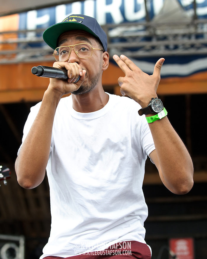 WASHINGTON, DC - August 11th, 2012 -  Rapper/producer Oddissee performs at the inaugural Trillectro Festival at the Half Street Fairgrounds in Washington, D.C. Before his performance, Oddissee gave a shout out to his grandmother, who lives right around the corner. (Photo by Kyle Gustafson/For The Washington Post) (Kyle Gustafson/For The Washington Post)