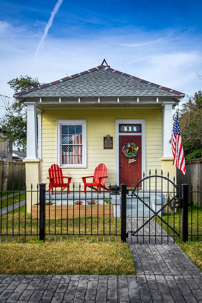 NEW ORLEANS - CIRCA FEBRUARY 2014: View of the Henry Allen Residence at 414 Newton Street, a famous trumpeter and band leader in McDonough a community within the city of New Orleans in Louisiana. (Daniel Korzeniewski)