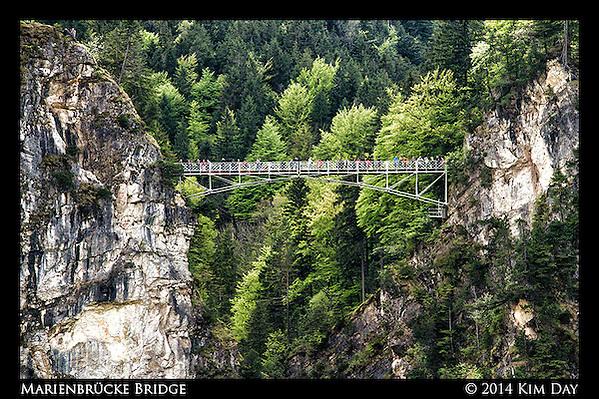 View of Marienbrücke Bridge From Neuschwanstien Castle Germany - May 2014 (Kim Day)