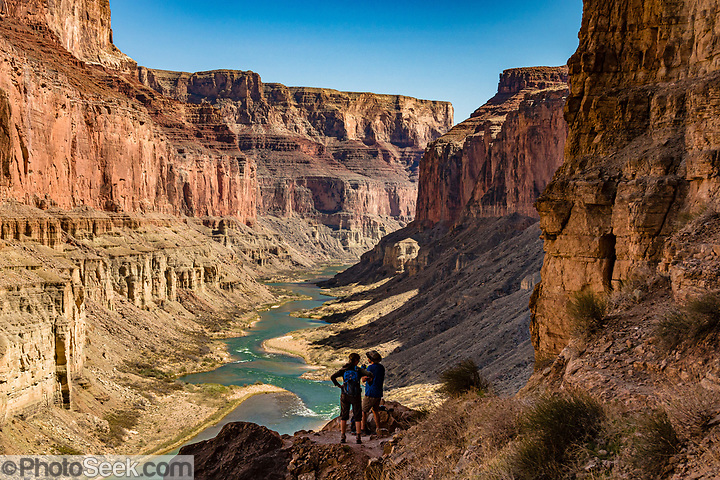 View down Marble Canyon from Nankoweap Granaries Trail at Colorado River Mile 53.4. This image is from Day 3 of 16 days rafting 226 miles down the Colorado River in Grand Canyon National Park, Arizona, USA. (© Tom Dempsey / PhotoSeek.com)
