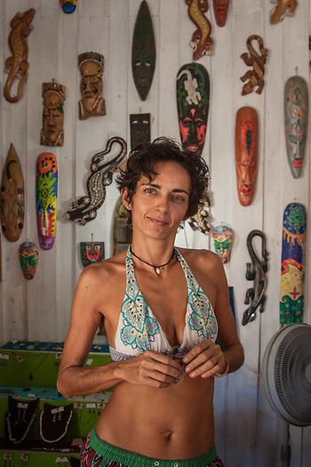 Italian shop owner Valentina Libereco, Samara, Costa Rica, Central America (Clark James Mishler)