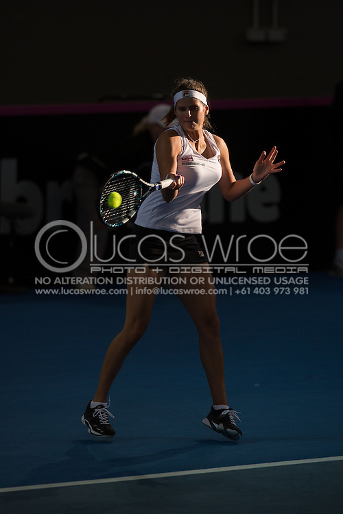 Julia Görges (GER), April 20, 2014 - TENNIS : Fed Cup, Semi-Final, Australia v Germany. Pat Rafter Arena, Brisbane, Queensland, Australia. Credit: Lucas Wroe (Lucas Wroe)