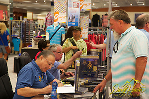 "Medal of Honor recipients Thomas G. Kelly and Alfred V. Rascon at autograph session in Naples Italy (© Daryl Hunter's ""The Hole Picture""/Daryl L. Hunter)"