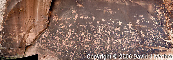 Newspaper Rock. National Historical Site. Image taken with a Nikon D200 camera and 18-70 mm kit lens. (David J Mathre)