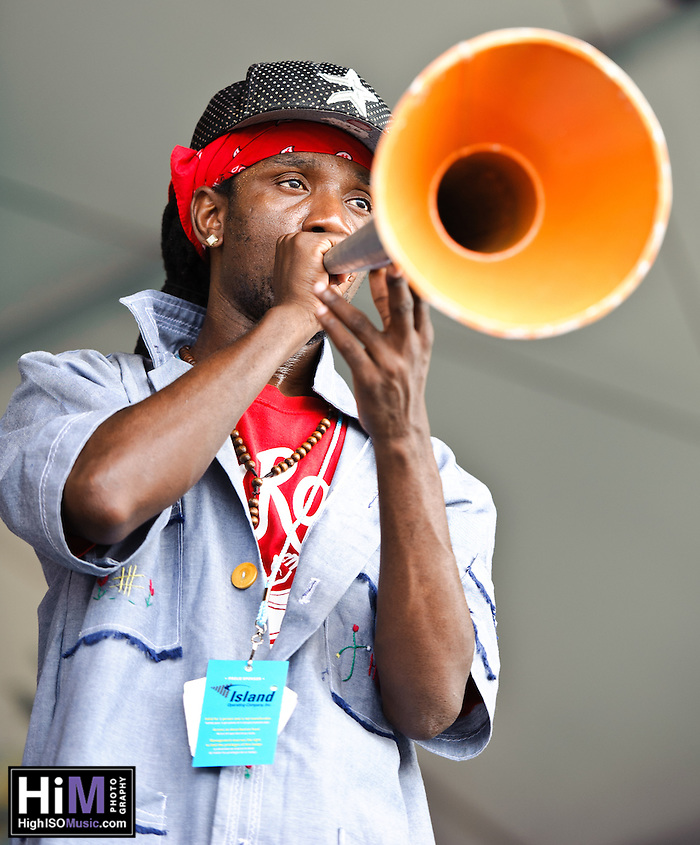 DJA-Rara from Haiti playing at Jazz Fest 2011 in New Orleans, LA on day 3. (Golden G. Richard III)