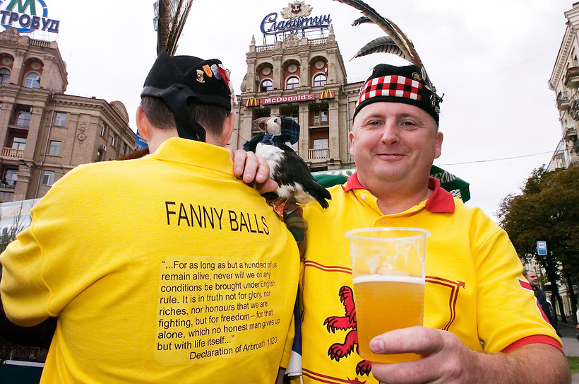 10TH OCT 2006, UKRAINE V SCOTLAND, SCOTLAND'S TARTAN ARMY FANS IN KIEV PRE MATCH, ROB CASEY PHOTOGRAPHY. (ROB CASEY/ROB CASEY PHOTOGRAPHY)