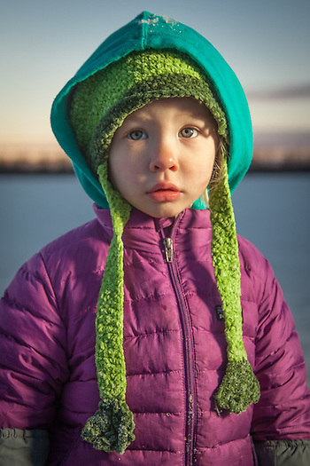 Two year old Donna Henderson at Westchester Lagoon, Anchorage. (© Clark James Mishler)