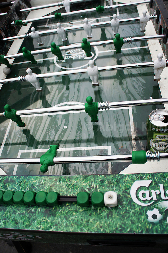 Unusual table football featuring Carlsberg in Copenhagen