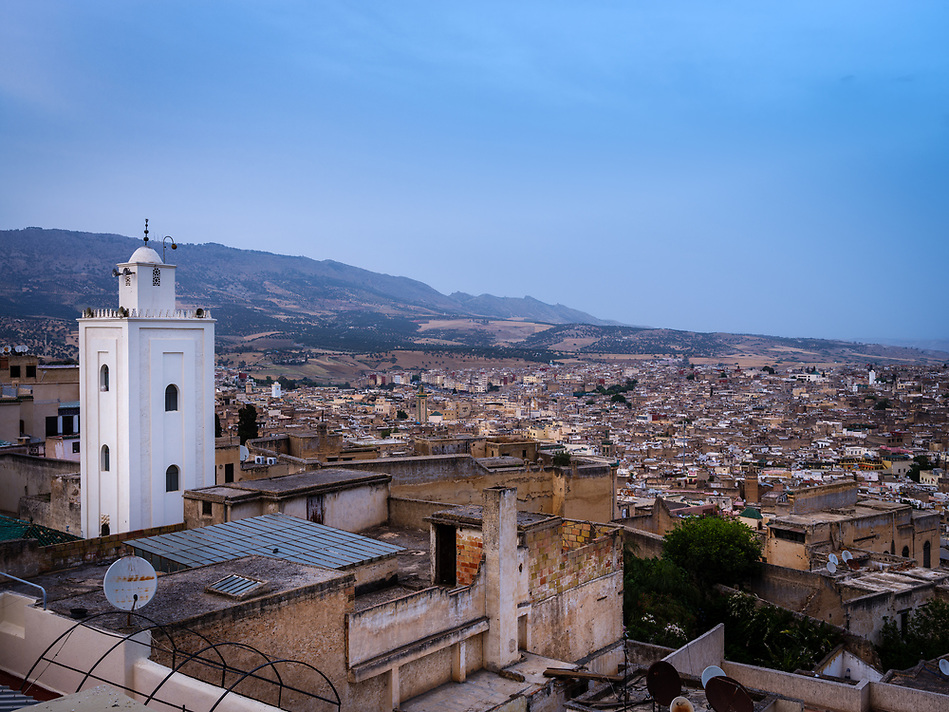 FEZ, MOROCCO - CIRCA APRIL 2017: View of the Medina in Fez. (Daniel Korzeniewski)