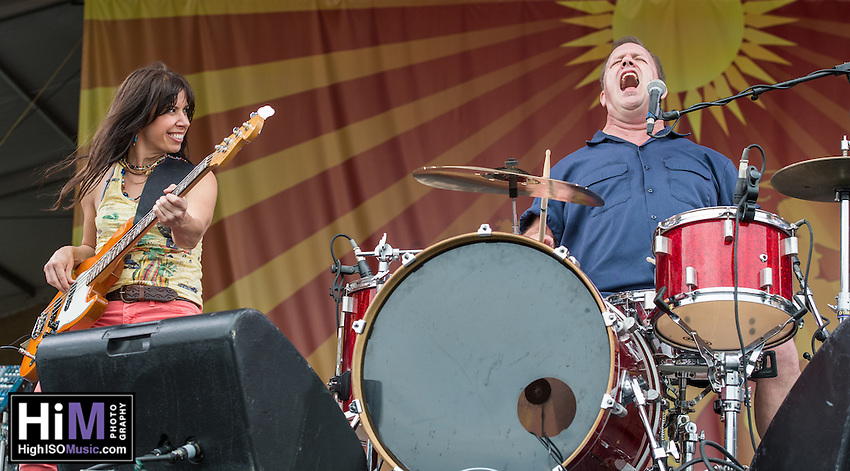 Cowboy Mouth performs at Jazz Fest 2014 on Day 5 in New Orleans, LA. (HIGH ISO Music, LLC)