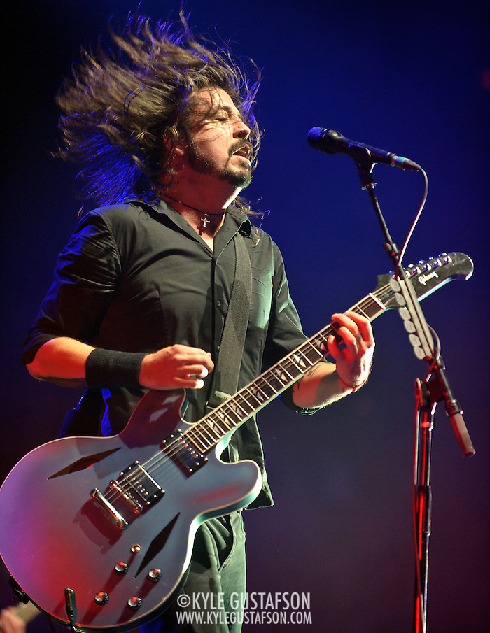 WASHINGTON, DC - November 11th, 2011 - Washington area native Dave Grohl performs with his band the Foo Fighters at the Verizon Center in Washington, D.C. The show was the band's first area appearance behind their 2010 album Wasting Light.  (Photo by Kyle Gustafson/For The Washington Post) (Kyle Gustafson/FTWP)