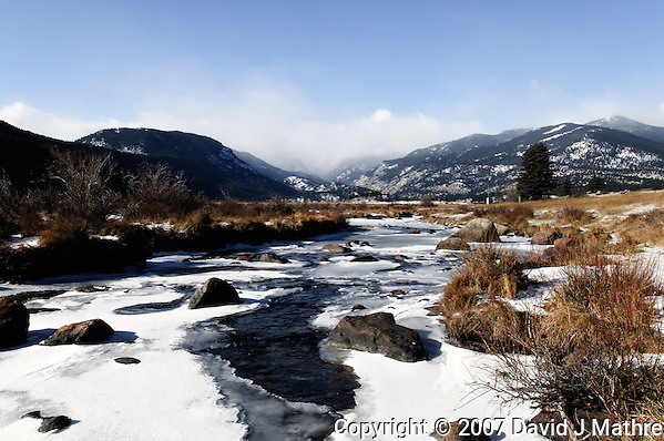 Big Thompson River, Moraine Park, Rocky Mountain National Park. Image taken with Nikon D300 an 17-35 mm f/2.8 lens (ISO 200, 20 mm, f/22, 1/40 sec). (David J Mathre)