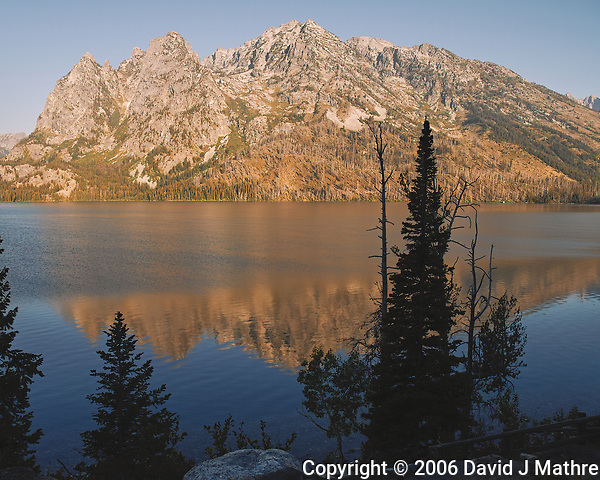 Early Morning Jenny Lake Reflections. Image taken with a Nikon D200 camera and 18-75 mm kit lens (ISO 100, 18 mm, f/5.6, 1/180 sec). (David J Mathre)