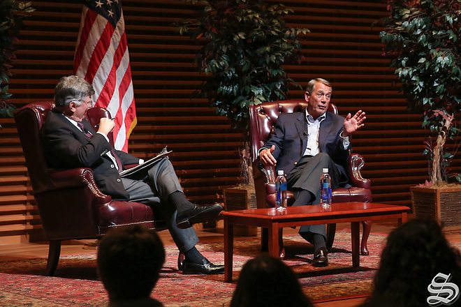 "In his comments at Stanford, former Speaker of the House John Boehner referred to Ted Cruz as ""Lucifer in the flesh"" and Donald Trump as a ""texting buddy."" Photo by Nafia Chowdhury (Nafia Chowdhury)"
