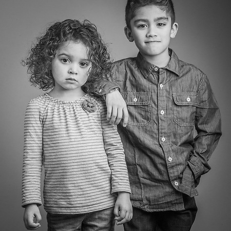 "Naveya (3) and Hundson (7) the grandchildren of Alex and Pearl Tatum, Christmas, 2013.  ""Anchorage has been a great place for our family.  Growing up here, I never noticed the racial devide that I heard about in the lower 48.""  -Alex Tatum (Clark James Mishler)"