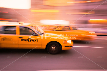 New York Yellow Taxi abstracts in October 2008 (Christopher Holt LTD - London UK/Image by Christopher Holt - www.christopherholt.com)