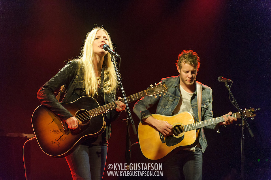 WASHINGTON, DC - May 29th, 2014 - Holly Williams and Michael Anderson perform at The Hamilton in Washington, D.C. Williams,  the granddaughter of Hank Williams, Sr. and the daughter of Hank Williams, Jr., self-released her latest album and it reached No. 1 on the Billboard Heatseekers chart. (Photo by Kyle Gustafson / For The Washington Post) (Kyle Gustafson/For The Washington Post)