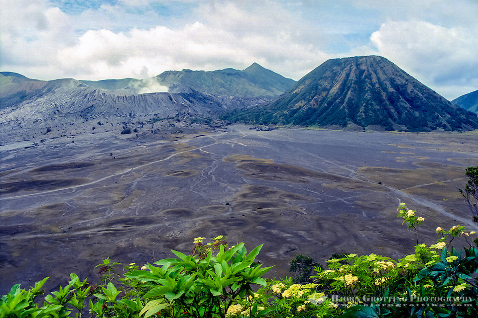 Java, East Java, Mount Bromo. Bromo is a smoking cone inside the huge, older crater Tengger    <div title=