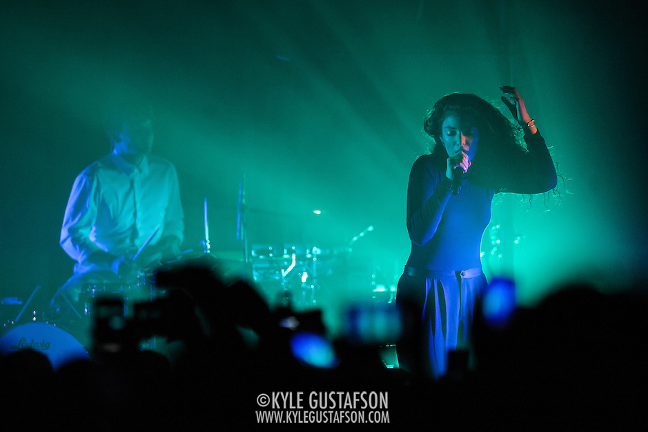 "WASHINGTON, DC - March 7th, 2014 -  Lorde performs at Echostage in Washington, D.C. Hit singles such as ""Royals"" and ""Team"" have propelled her debut album, Pure Heroine, to the top of the charts all over the world. (Photo by Kyle Gustafson / For The Washington Post) (Kyle Gustafson/For The Washington Post)"