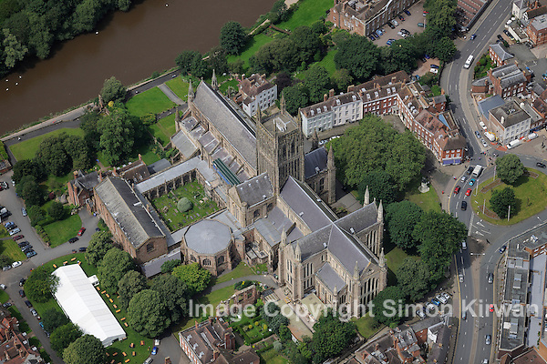 Worcester Cathedral from the Air - Aerial Photography by Simon Kirwan