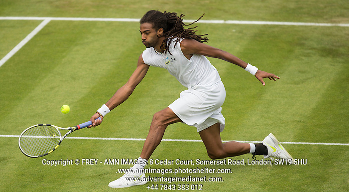 Dustin Brown Tennis - The Championships Wimbledon  - Grand Slam -  All England Lawn Tennis Club  2013 -  Wimbledon - London - United Kingdom - Wednesday 26th June  2013.  © AMN Images, 8 Cedar Court, Somerset Road, London, SW19 5HU Tel - +44 7843383012 mfrey@advantagemedianet.com www.amnimages.photoshelter.com www.advantagemedianet.com www.tennishead.net (FREY - AMN IMAGES)