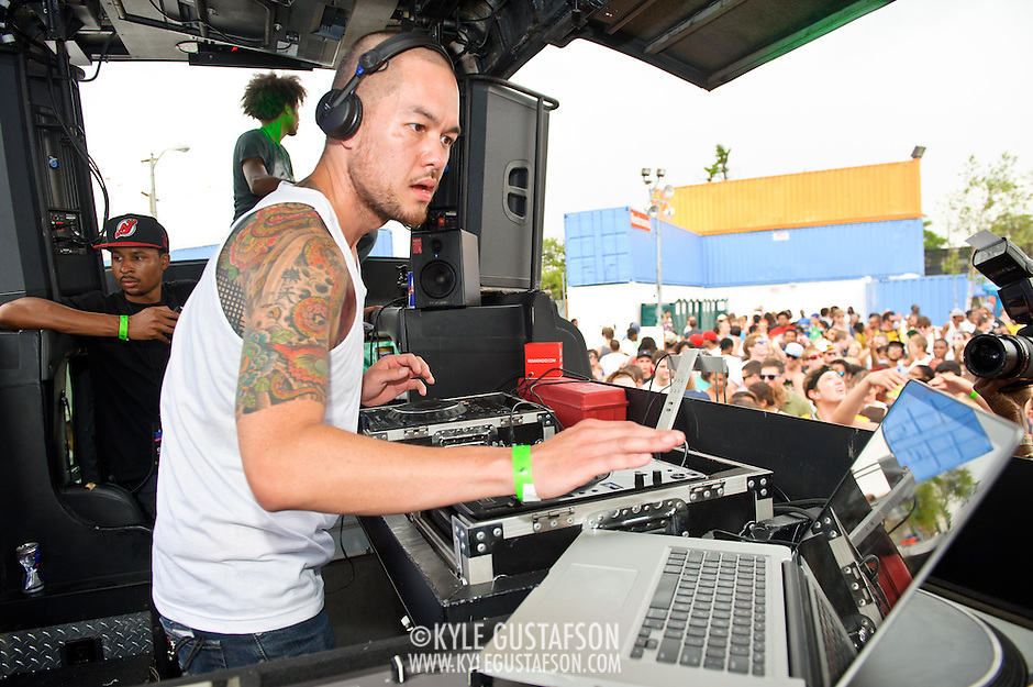 WASHINGTON, DC - August 11th, 2012 - Noted local DJ Jesse Tittsworth drew one of the day's largest crowds at the inaugural Trillectro Festival at the Half Street Fairgrounds in Washington, D.C. The festival was a combination of hip-hop and dance acts, bringing together fans of both genres.  (Photo by Kyle Gustafson/For The Washington Post) (Kyle Gustafson/For The Washington Post)