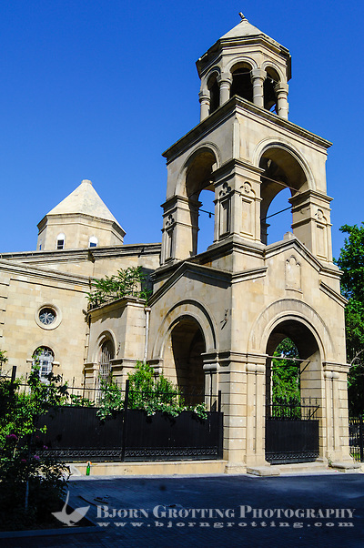 Azerbaijan, Baku. St. Gregory the Illuminator's Church is a non-functioning Armenian Apostolic church in downtown Baku. (Photo Bjorn Grotting)