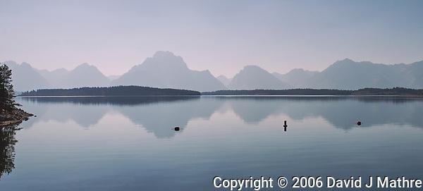 Jackson Lake Reflections. Image taken with a Nikon D200 camera and 18-75 mm kit lens (ISO 100, 18 mm, f/9, 1/320 sec). (David J Mathre)