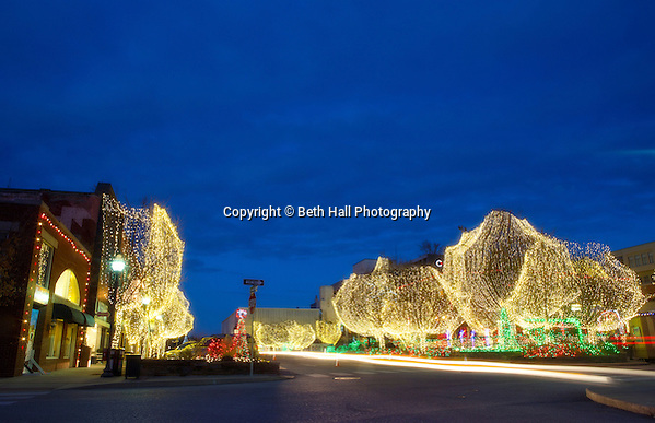 The Lights of the Ozarks on the downtown Fayetteville square in December of 2014, in Arkansas. Photo by Beth Hall (Beth Hall)