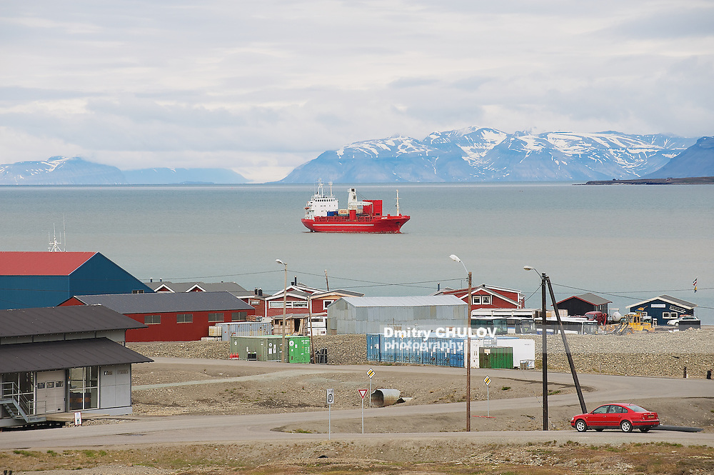 LONGYEARBYEN, NORWAY - SEPTEMBER 01, 2011: View to the harbor of Longyearbyen, Norway. (Dmitry Chulov)