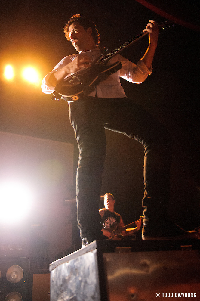 Photos of the band The Dillinger Escape Plan performing in support of the Deftones at the Pageant in St. Louis on April 26, 2011. (Todd Owyoung)