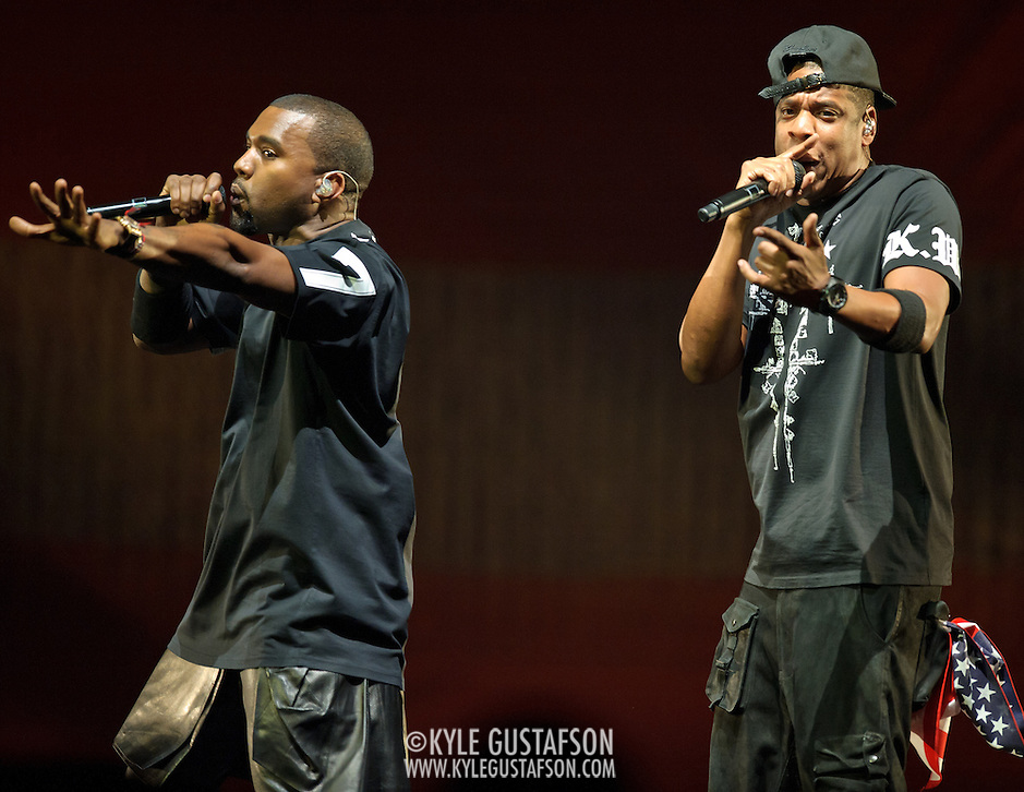 WASHINGTON, DC - November 3rd, 2011 - Chart-topping rappers Jay-Z and Kanye West perform their collaborative album Watch The Throne at the Verizon Center in Washington, D.C. (Photo by Kyle Gustafson/For The Washington Post) (Kyle Gustafson/FTWP)