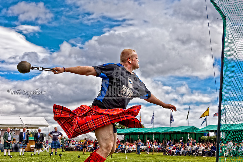 Weight for distance event at Aboyne Highland Games, Royal Deeside,Scotland dsider www.dsider.co.uk online magazine, Bill Bagshaw photography courses (Bill Bagshaw & Martin Williams/Bill Bagshaw, dsider.co.uk)