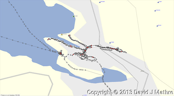 GPS Track: Walkabout in Bergen (14.4 mile) (David J Mathre)