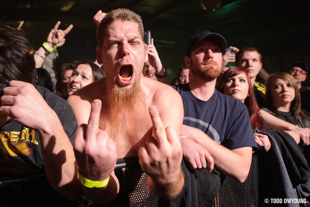 Fans at Pop's in Sauget, IL for Machine Head on January 17, 2012. (Todd Owyoung)